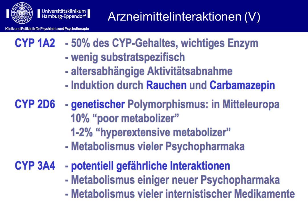 Arzneimittelinteraktionen (V)