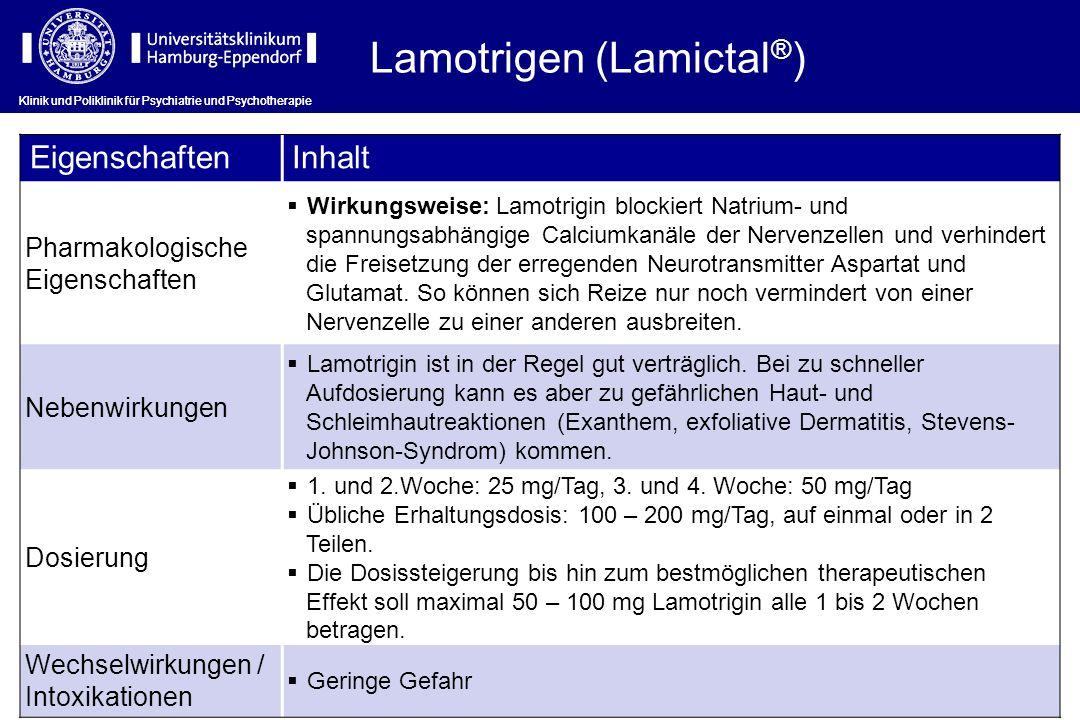 Lamotrigen (Lamictal®)