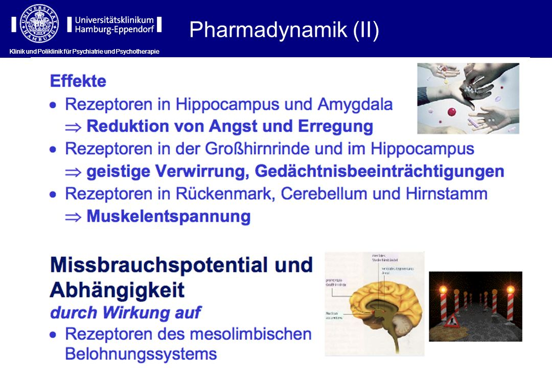 Pharmadynamik (II) Klinik und Poliklinik für Psychiatrie und Psychotherapie