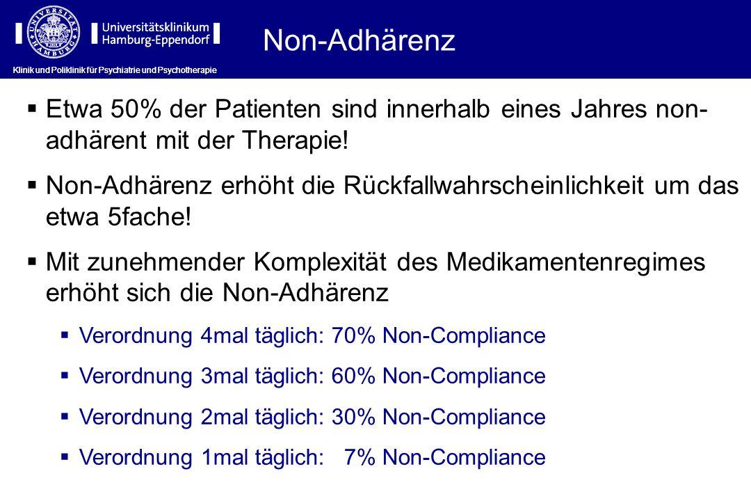Non-Adhärenz Klinik und Poliklinik für Psychiatrie und Psychotherapie.