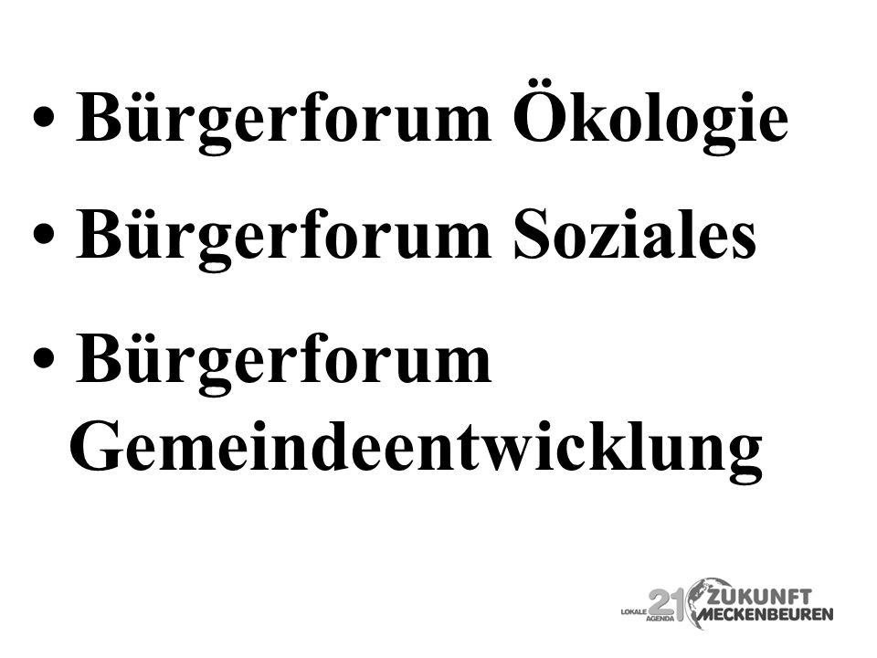 • Bürgerforum Ökologie