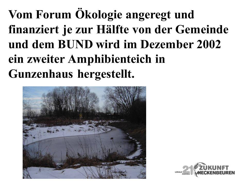 Vom Forum Ökologie angeregt und