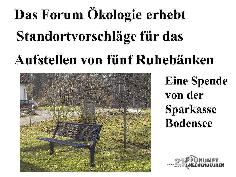 Das Forum Ökologie erhebt