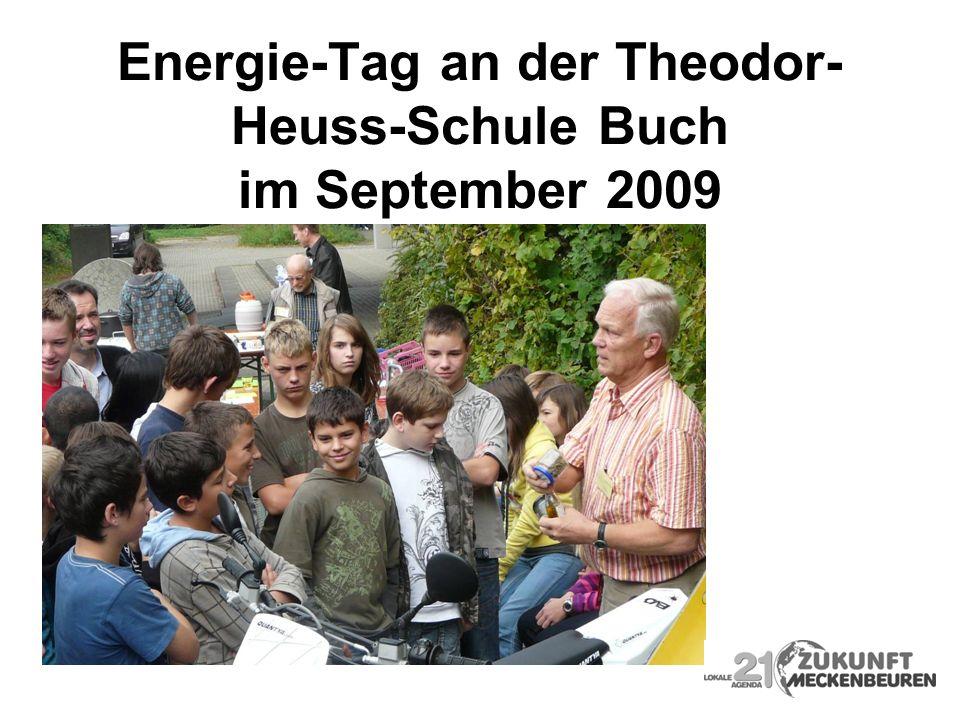 Energie-Tag an der Theodor-Heuss-Schule Buch im September 2009