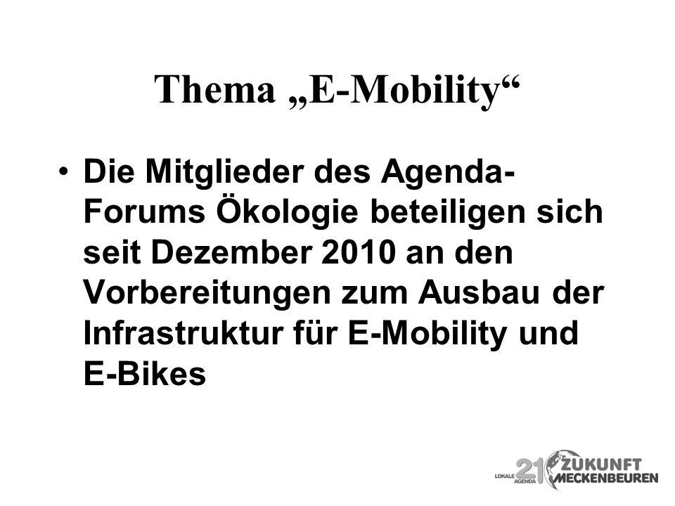 "Thema ""E-Mobility"