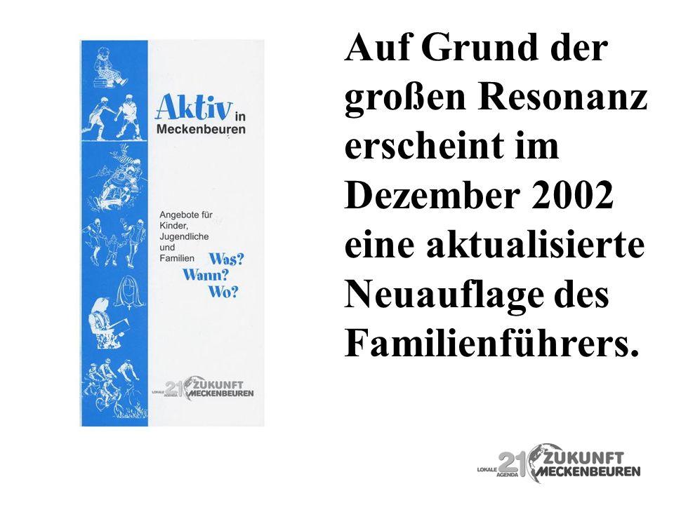 Auf Grund der großen Resonanz. erscheint im. Dezember 2002. eine aktualisierte. Neuauflage des.
