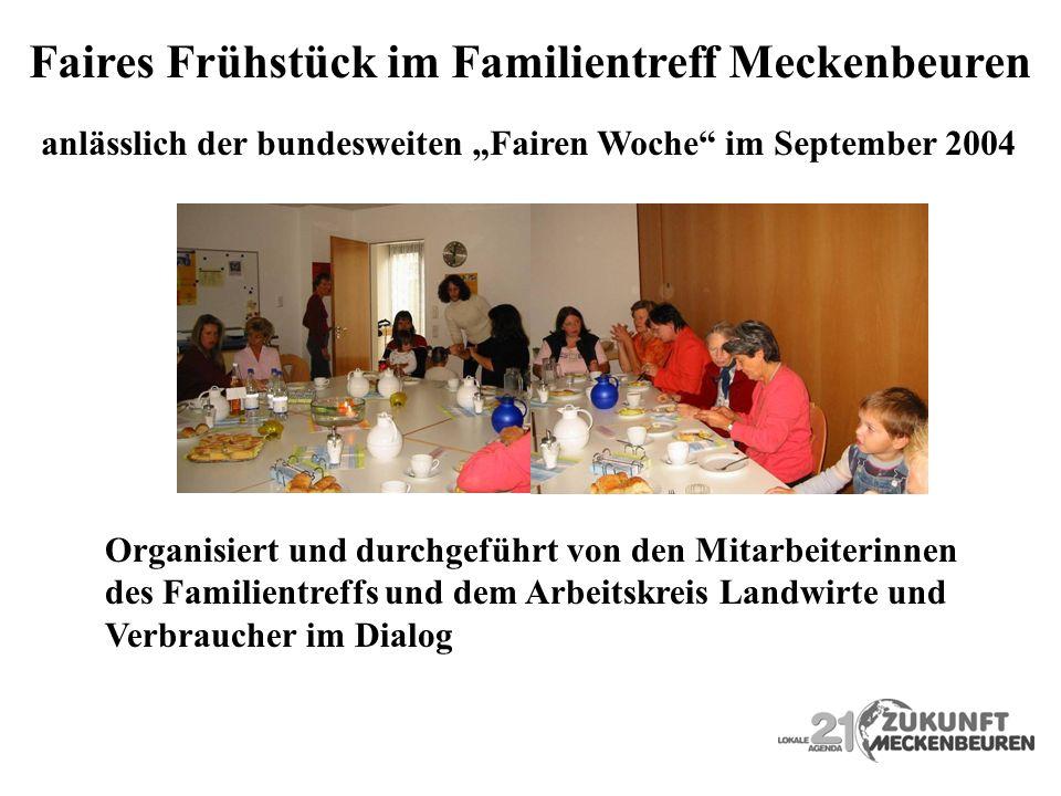 Faires Frühstück im Familientreff Meckenbeuren