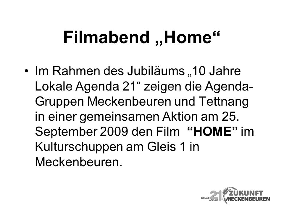 "Filmabend ""Home"
