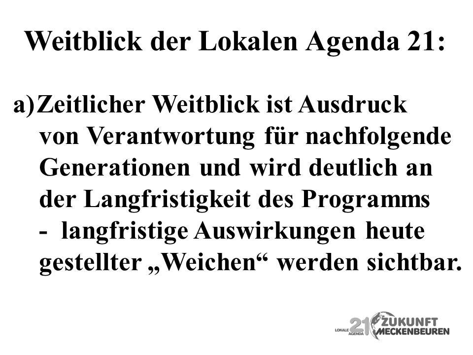 Weitblick der Lokalen Agenda 21: