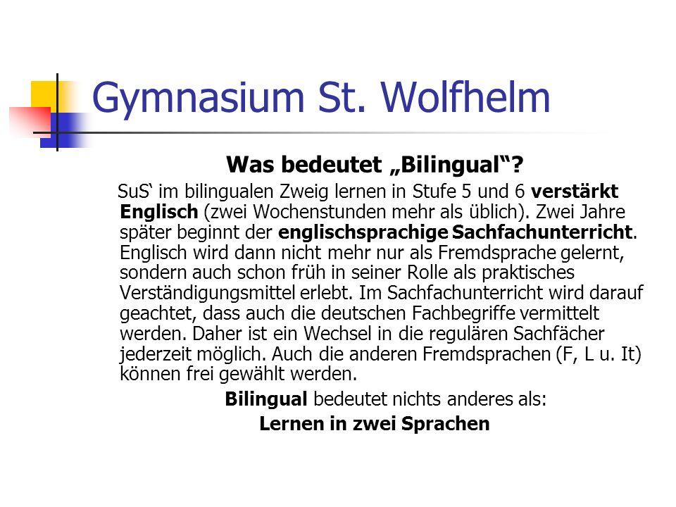 """Was bedeutet """"Bilingual Lernen in zwei Sprachen"""