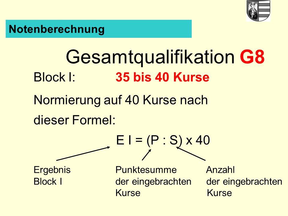 Gesamtqualifikation G8