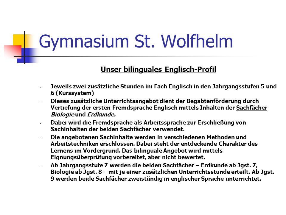 Unser bilinguales Englisch-Profil
