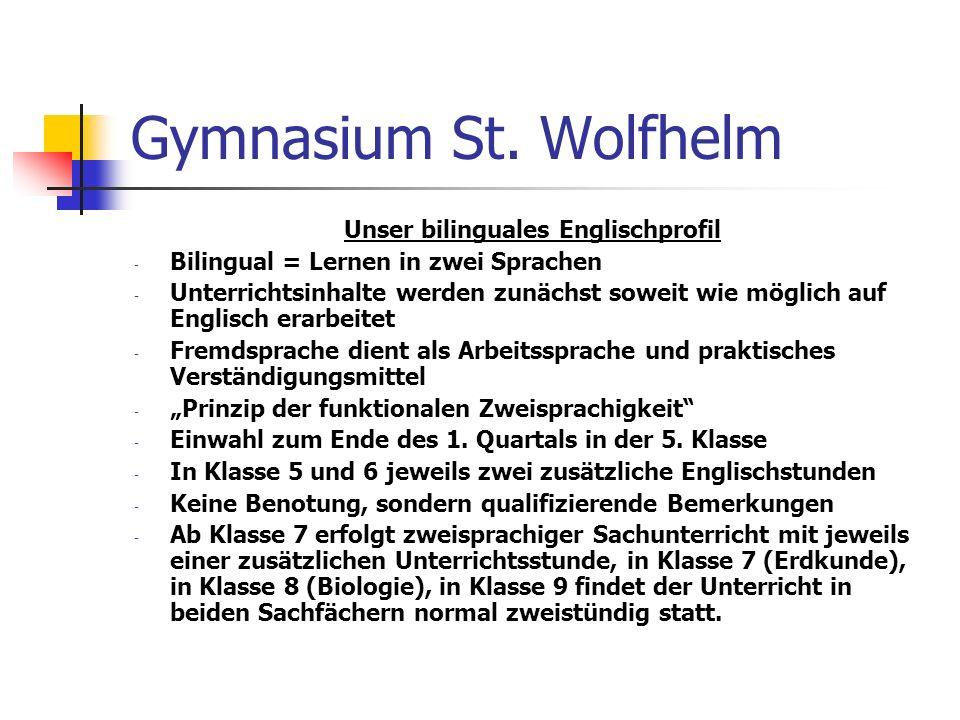 Unser bilinguales Englischprofil
