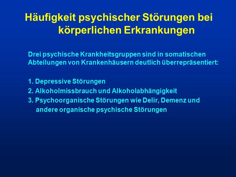 Häufigkeit psychischer Störungen bei körperlichen Erkrankungen