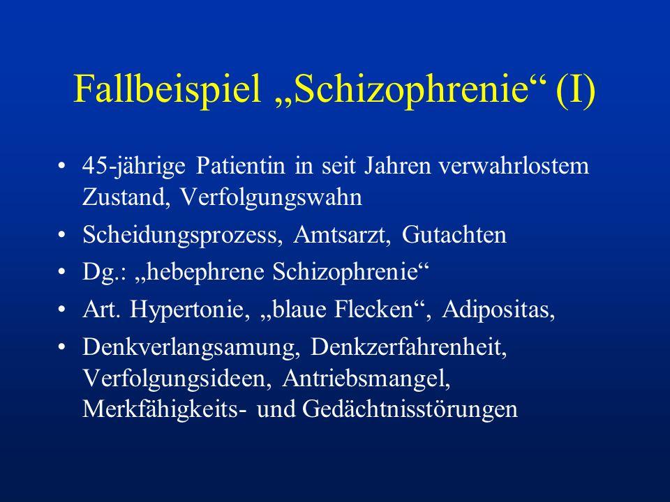 "Fallbeispiel ""Schizophrenie (I)"