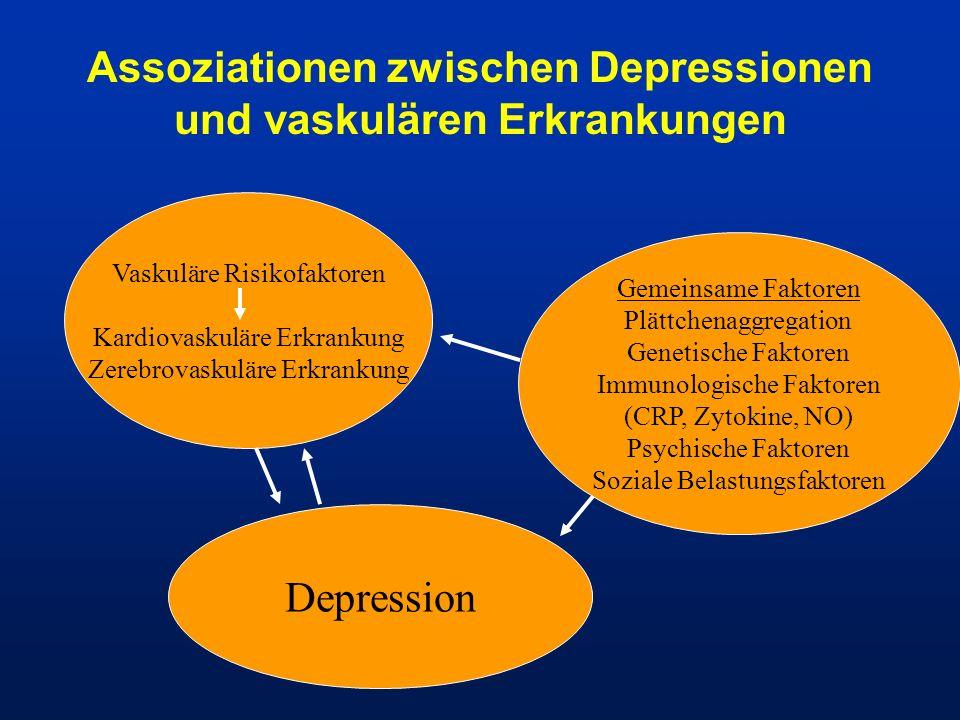 Assoziationen zwischen Depressionen und vaskulären Erkrankungen