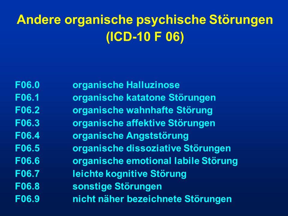 Andere organische psychische Störungen