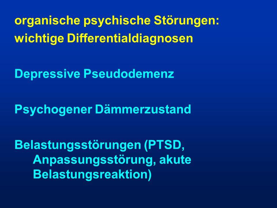 organische psychische Störungen: