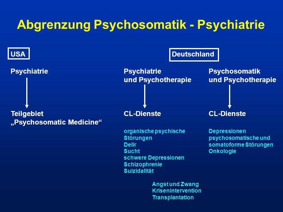 Abgrenzung Psychosomatik - Psychiatrie