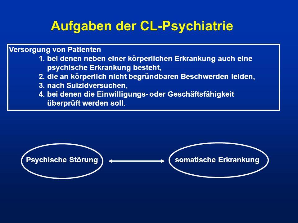 Aufgaben der CL-Psychiatrie