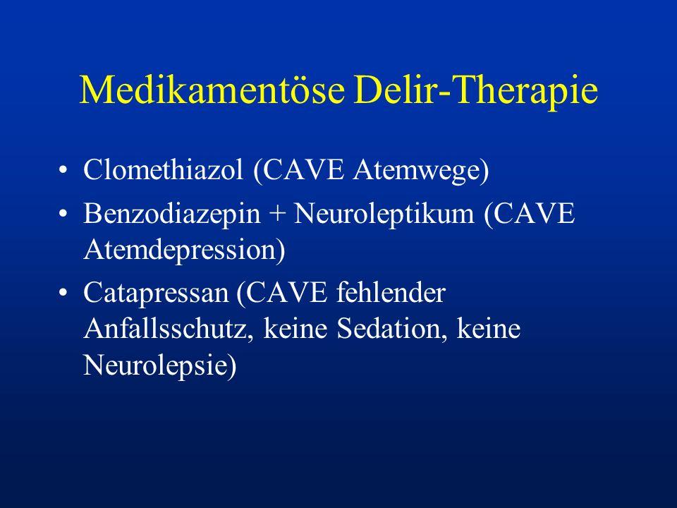Medikamentöse Delir-Therapie