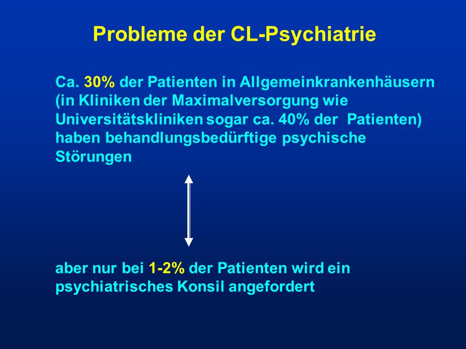 Probleme der CL-Psychiatrie