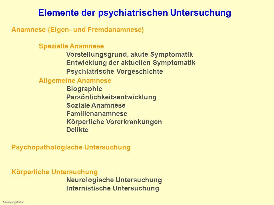 Elemente der psychiatrischen Untersuchung