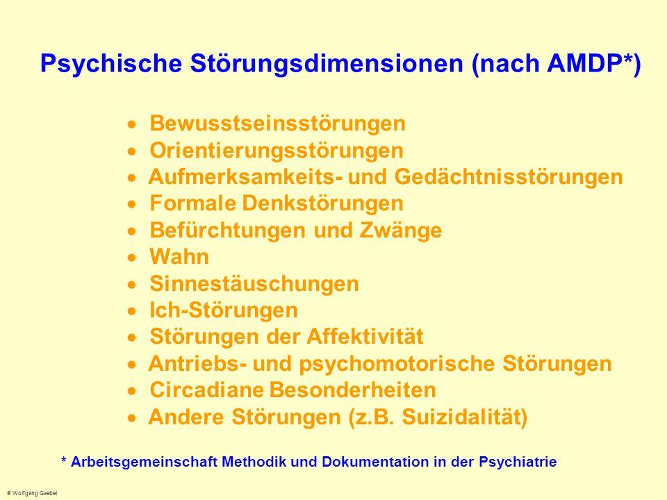 Psychische Störungsdimensionen (nach AMDP*)