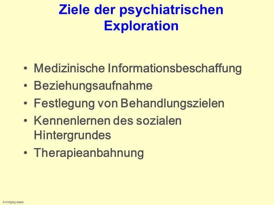 Ziele der psychiatrischen Exploration