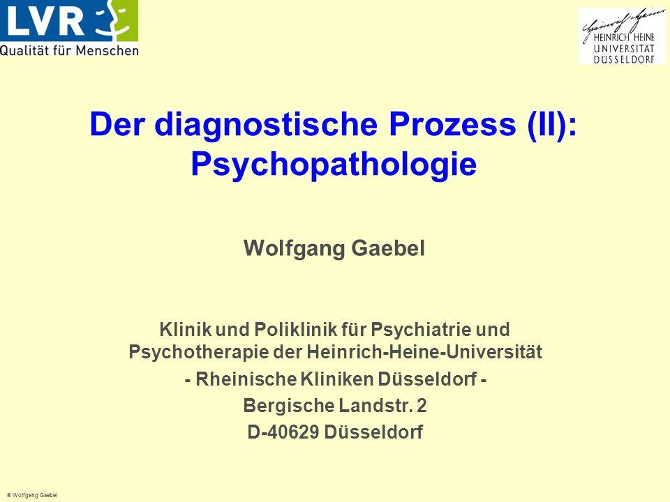 Der diagnostische Prozess (II): Psychopathologie
