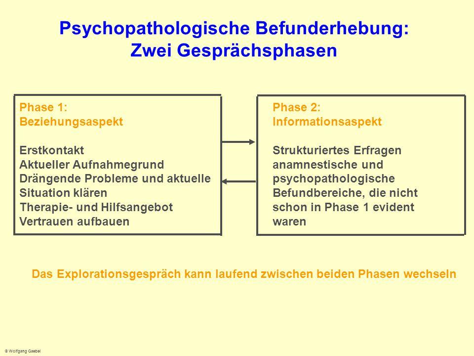 Psychopathologische Befunderhebung: Zwei Gesprächsphasen