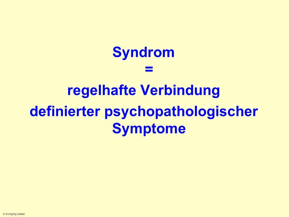 regelhafte Verbindung definierter psychopathologischer Symptome