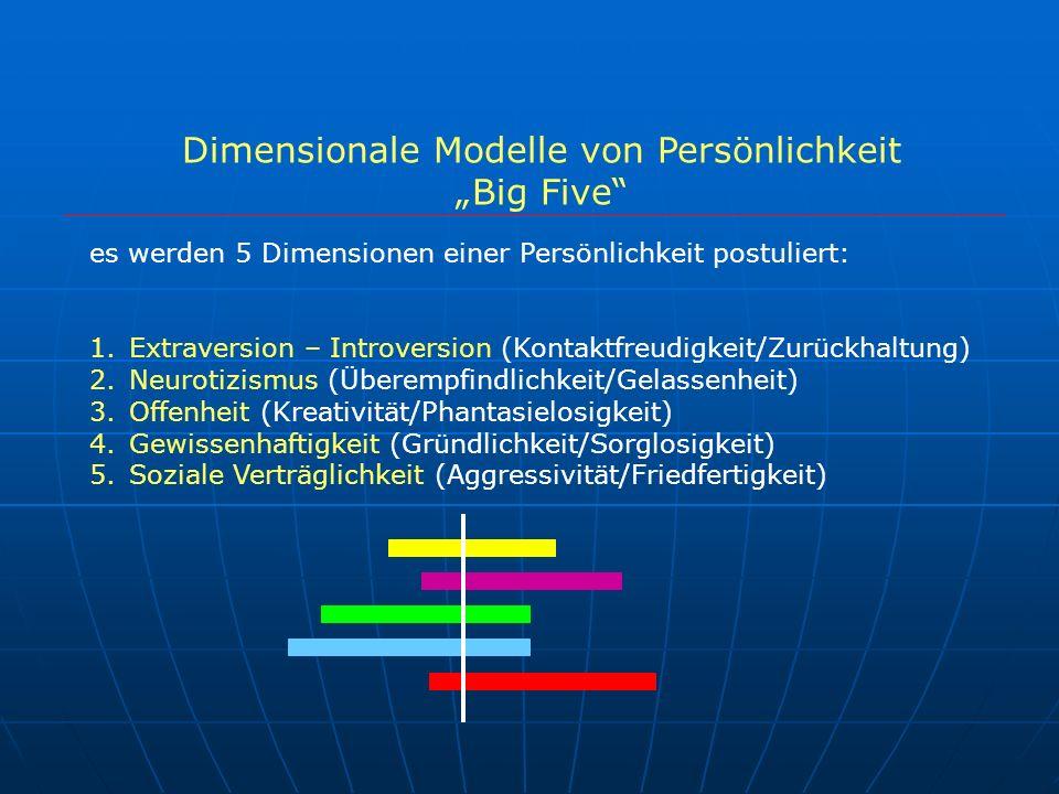 Dimensionale Modelle von Persönlichkeit