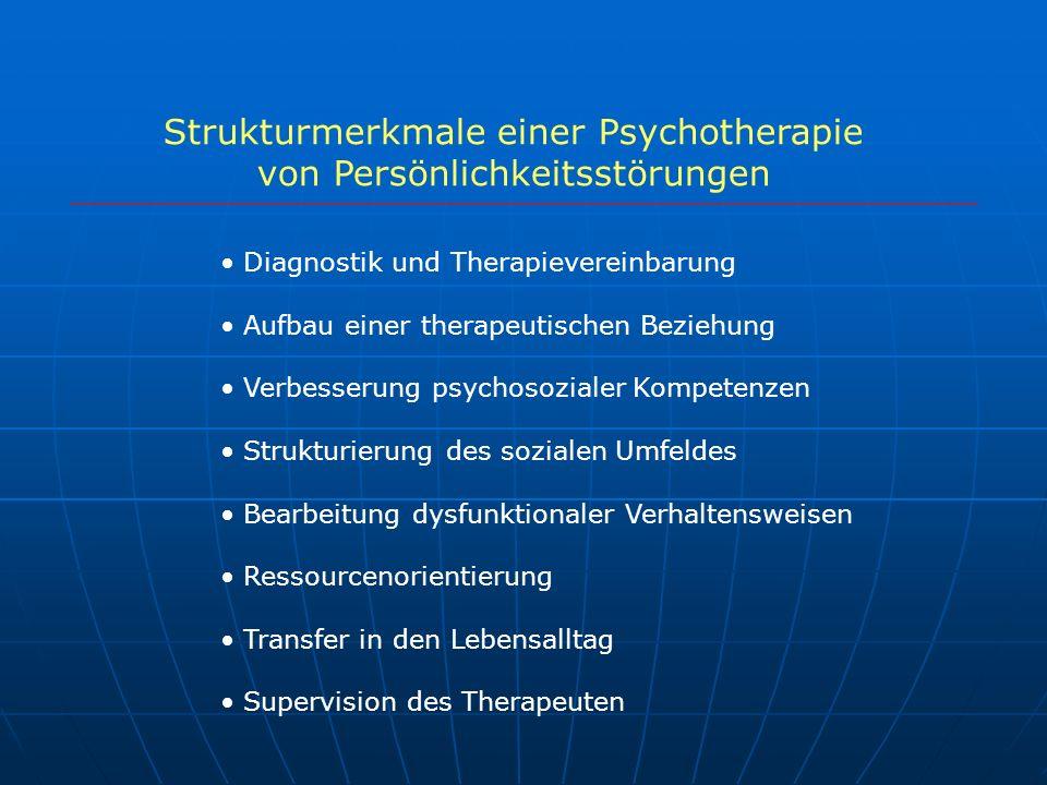 Strukturmerkmale einer Psychotherapie von Persönlichkeitsstörungen