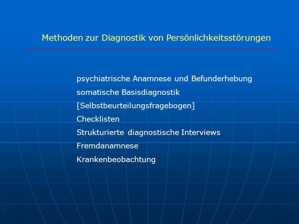 Methoden zur Diagnostik von Persönlichkeitsstörungen