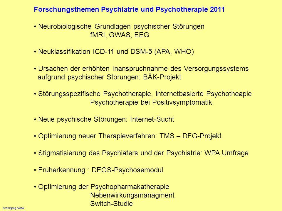 Forschungsthemen Psychiatrie und Psychotherapie 2011