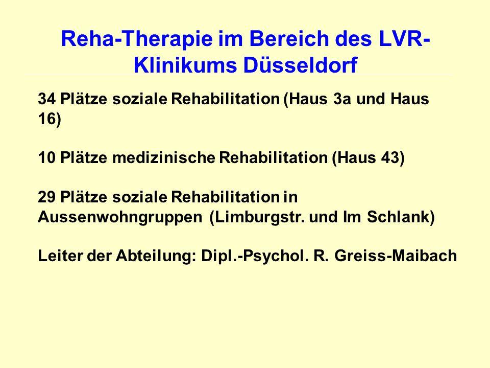 Reha-Therapie im Bereich des LVR-Klinikums Düsseldorf