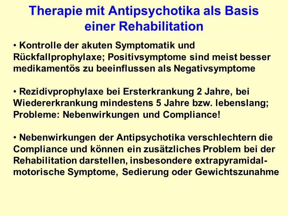 Therapie mit Antipsychotika als Basis einer Rehabilitation