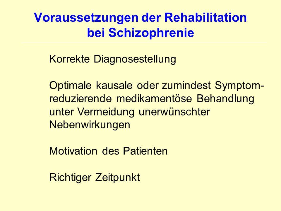 Voraussetzungen der Rehabilitation bei Schizophrenie