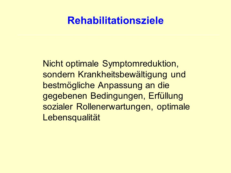 Rehabilitationsziele