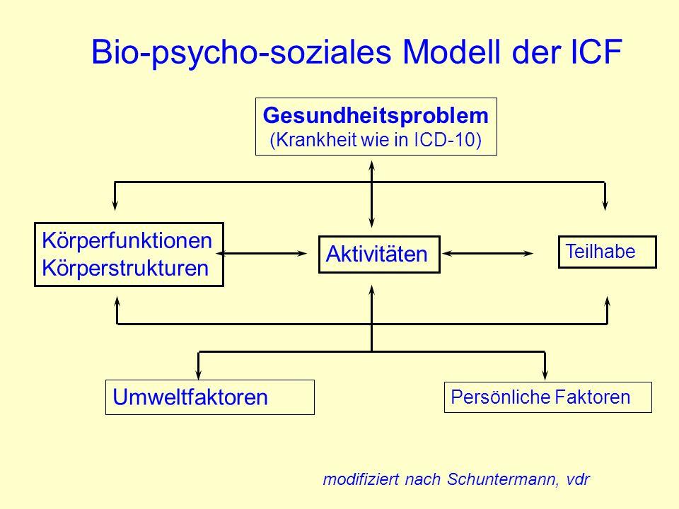 Bio-psycho-soziales Modell der ICF