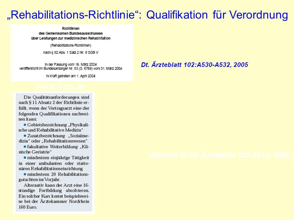 Hibbeler B: Dt. Ärzteblatt 103;A512, 2006