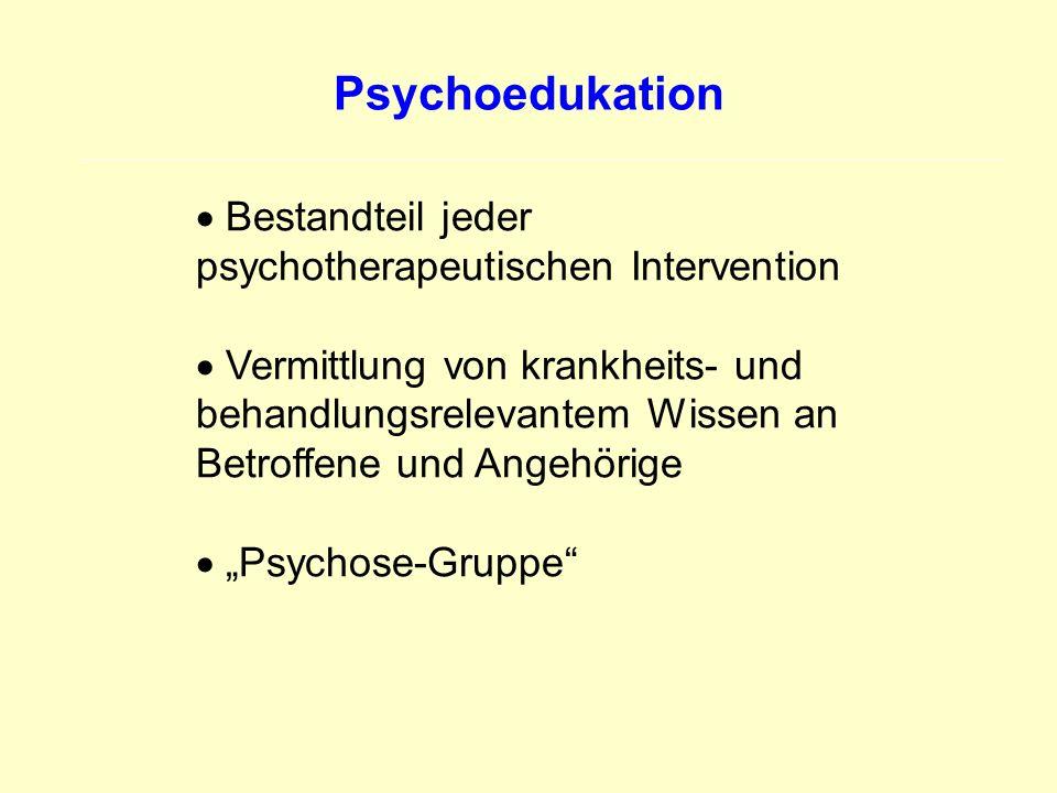 Psychoedukation Bestandteil jeder psychotherapeutischen Intervention