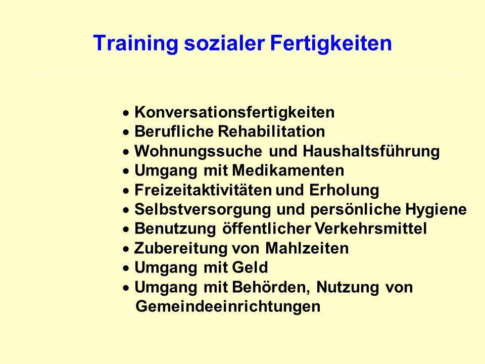 Training sozialer Fertigkeiten