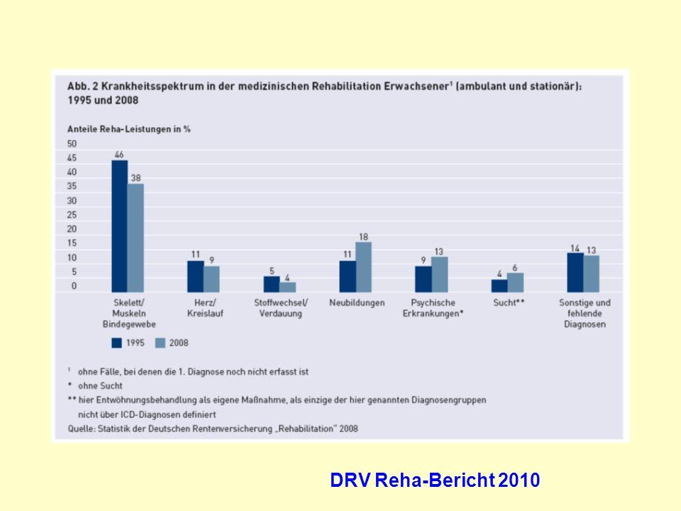 Onkologie Herz/Kreislauf psych. Störungen DRV Reha-Bericht 2010