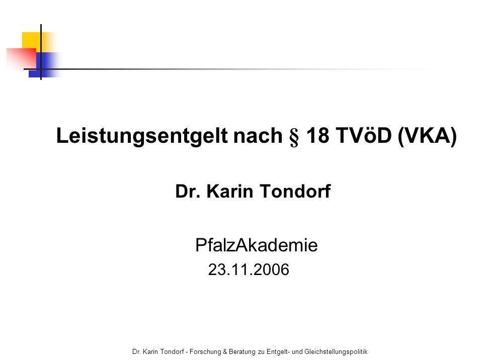 Leistungsentgelt nach § 18 TVöD (VKA)
