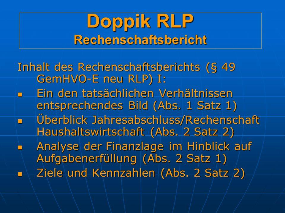Doppik RLP Rechenschaftsbericht