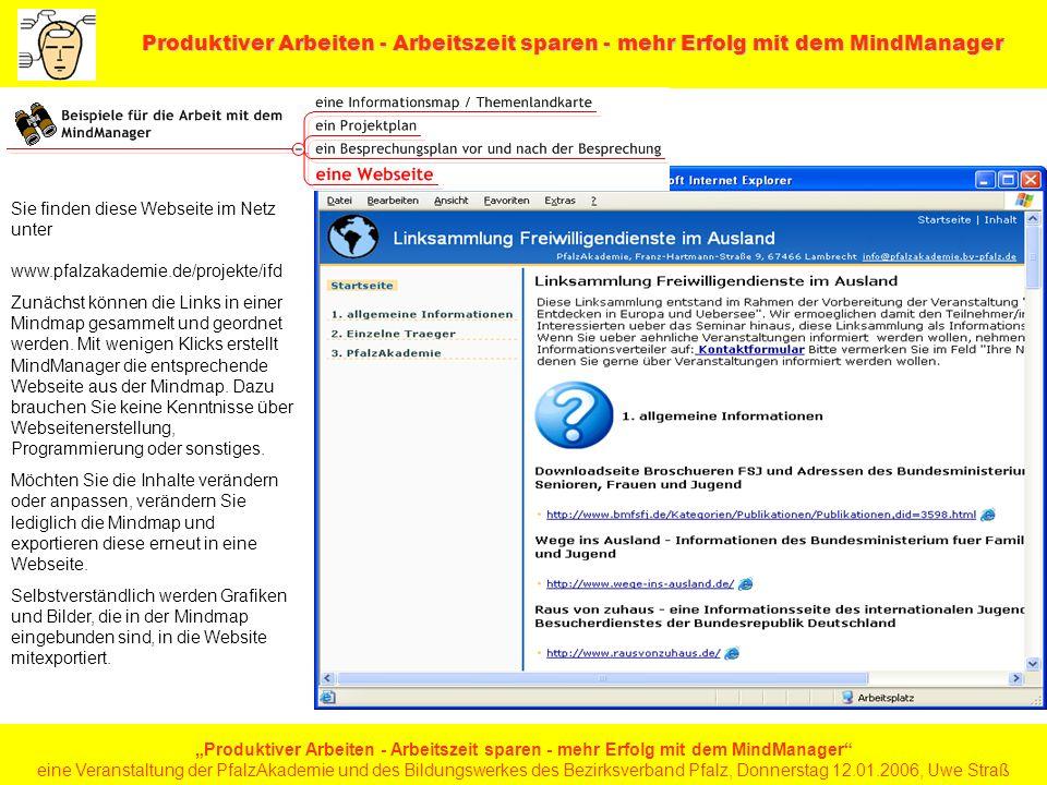 Sie finden diese Webseite im Netz unter www. pfalzakademie