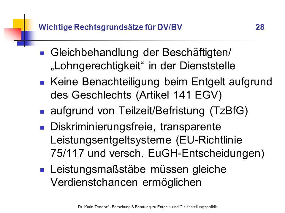 Wichtige Rechtsgrundsätze für DV/BV 28