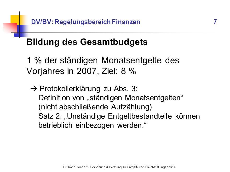 DV/BV: Regelungsbereich Finanzen 7